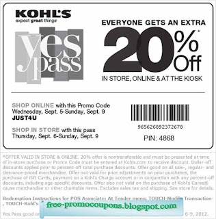 Kohls printable coupons in store 2018