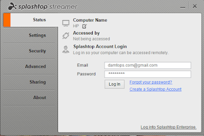 Splashtop remote streamer windows 8 login