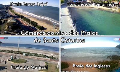 Câmeras ao vivo das Praias de Santa Catarina