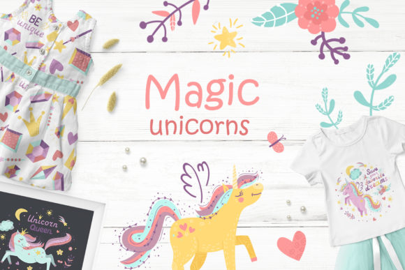 Magic Unicorns Graphics Pack
