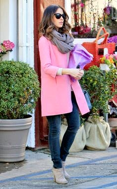 Bright Idea a pink overcoat