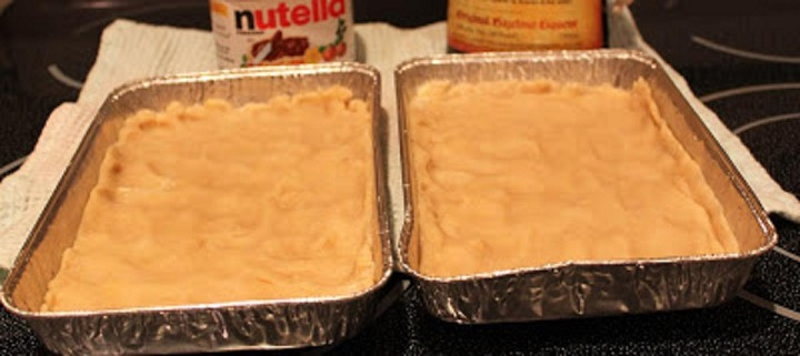 this is how to make a ricotta nutella cheesecake with cookie crust for Christmas holiday desserts