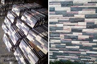 Model Desain Gambar Batu Alam Wall Cladding Teras Templek Dinding Rumah Minimalis