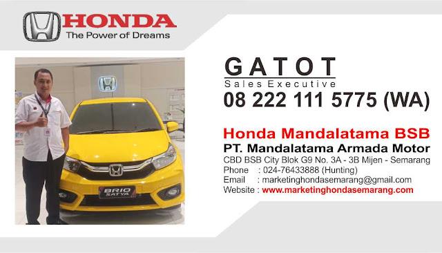 Sales Dealer Resmi Mobil Honda Semarang, Demak, Kendal, Weleri, Ungaran, Ambarawa dan Salatiga