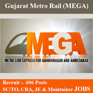 Metro-Link Express for Gandhinagar and Ahmedabad, MEGA, Gujarat Metro Rail, Metro Rail, Gujarat, 10th, Station Controller, Train Operator, TO, CRA, Maintainer, JE, Junior Engineer, freejobalert, Sarkari Naukri, Latest Jobs, Hot Jobs, gujarat metro rail logo
