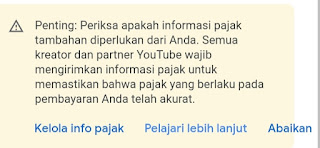 Cara daftar pajak youtube tanpa NPWP di hp