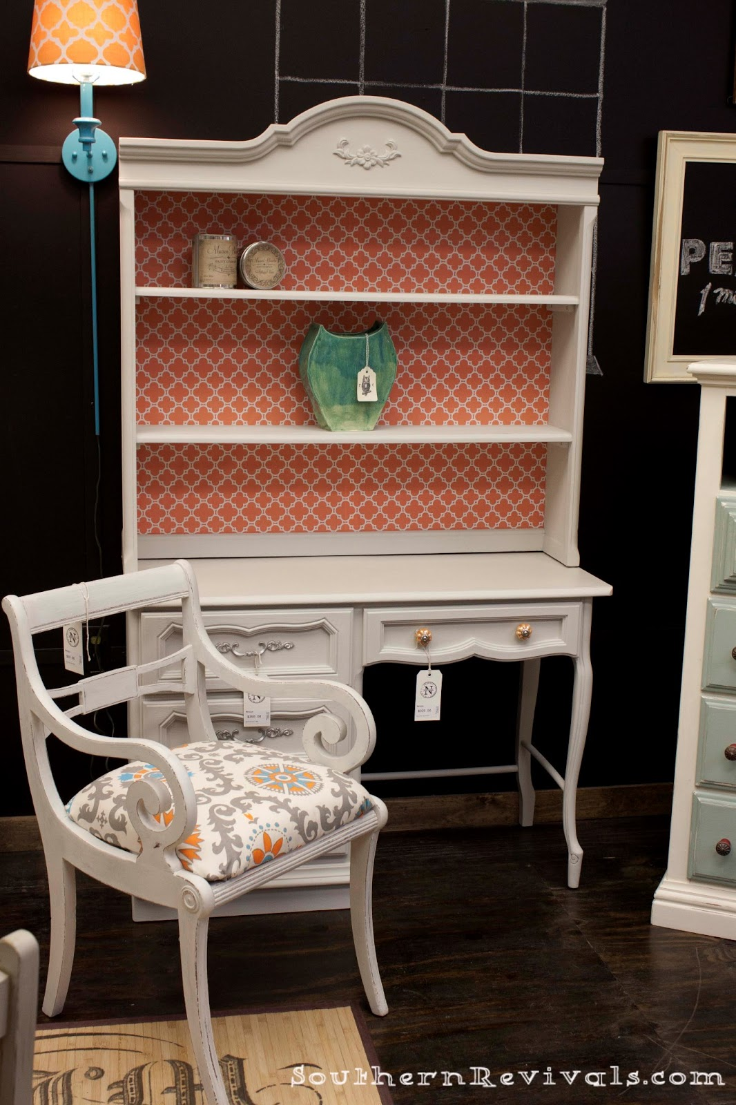 Coral Amp Gray French Provincial Vanity Makeover Southern