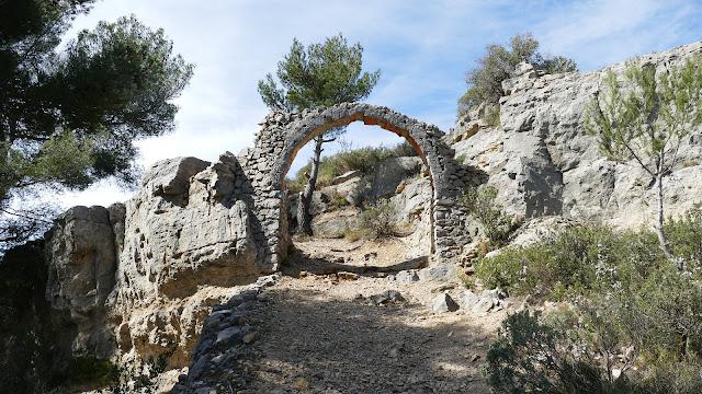 Les ruines d'Aubignagne