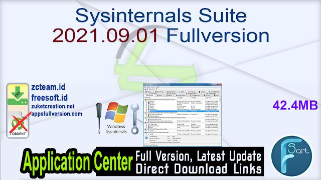 Sysinternals Suite 2021.09.01 Fullversion