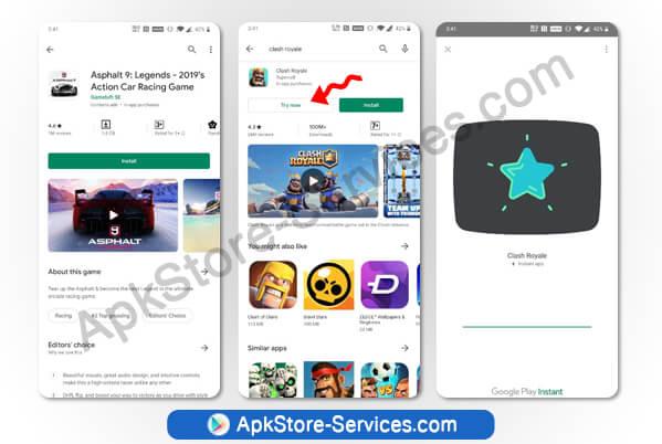 Google Play Instant Apps ميزة تجربة الألعاب والتطبيقات قبل التثبيت