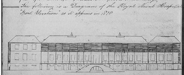 Royal Naval Hospital Bermuda as it appeared in 1878
