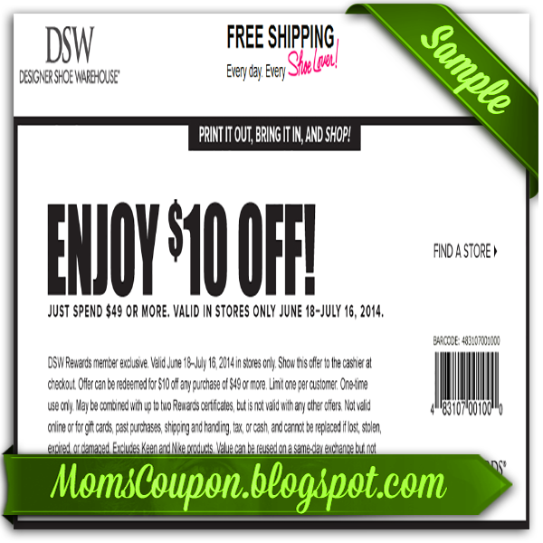dsw shoes coupon june