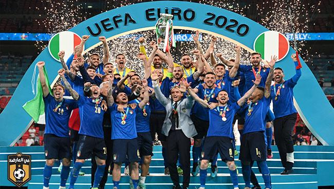 إيطاليا تفوز علي إنجلترا وتتوج بلقب يورو 2020
