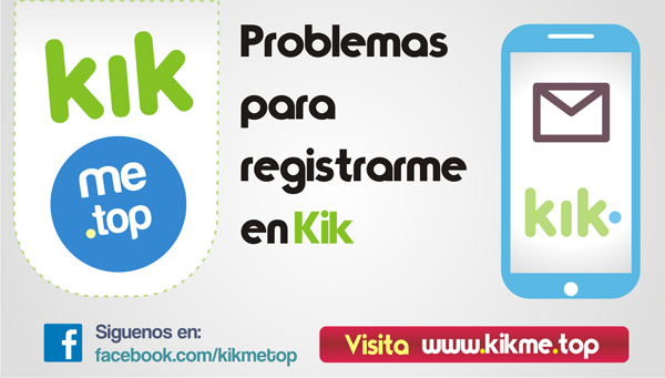 Problemas para registrarme en Kik