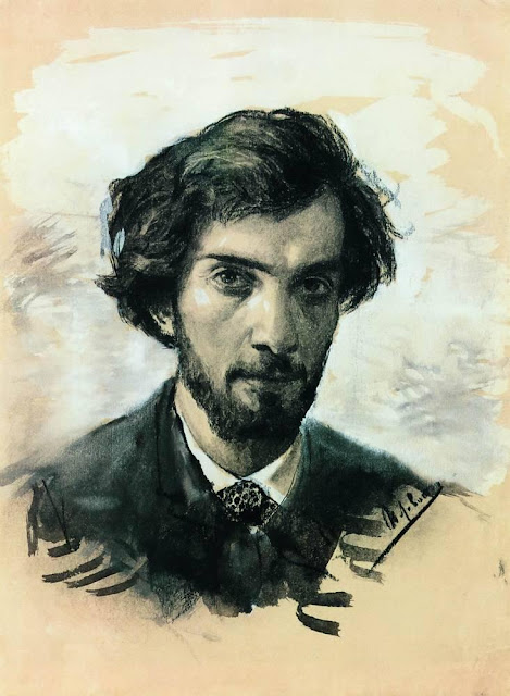 Исаак Ильич Левитан - Автопортрет. 1880-е