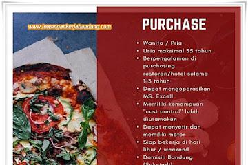 Lowongan Kerja Bandung Staff Purchase PizzaPiza