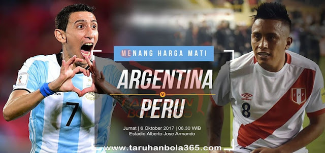 Prediksi Taruhan Bola 365 - Argentina vs Peru 6 Oktober 2017