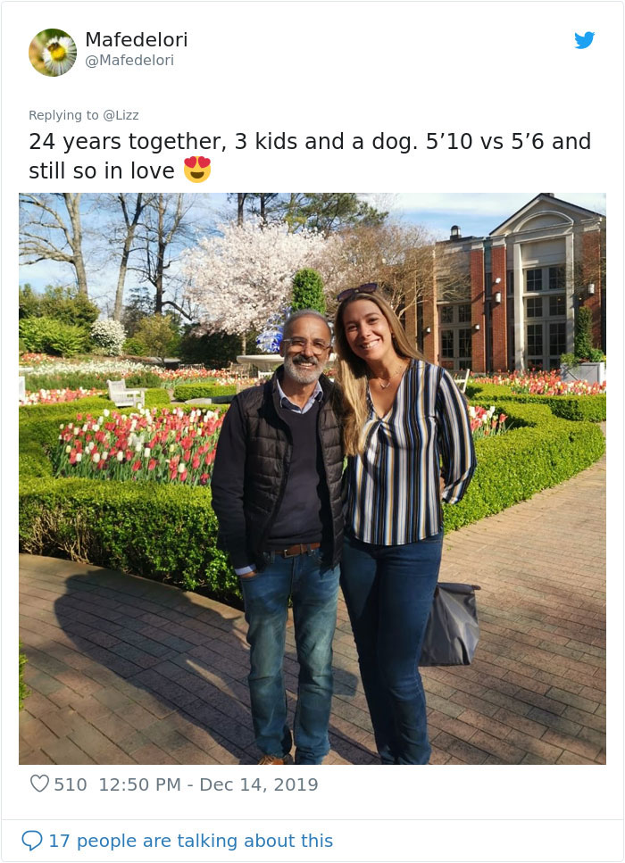Wife's Picture of her and her shorter husband Goes viral online