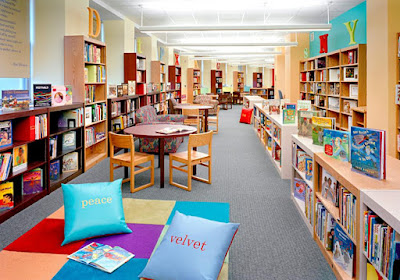 view of children's library design
