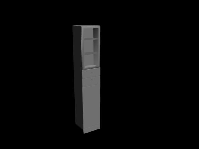 Uzun kitaplık 3D Model