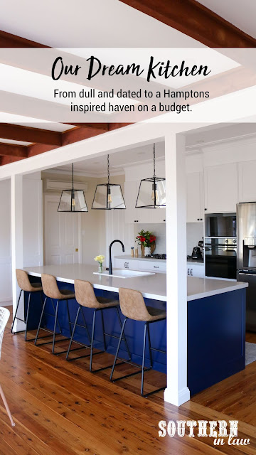 Our Dream Kitchen Renovation - From dull and dated to Hamptons Inspired Shaker Kitchen