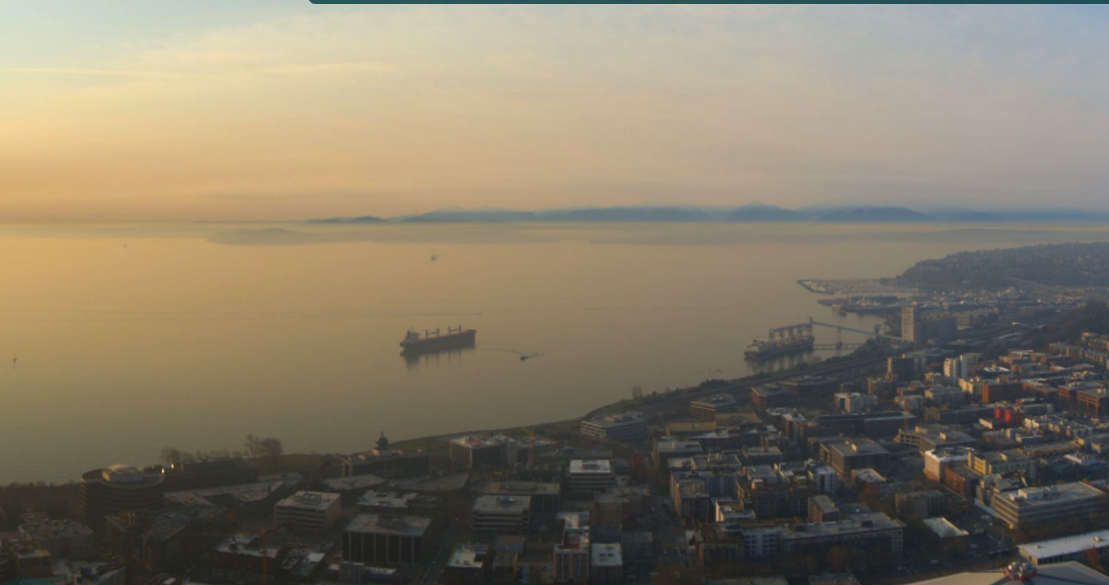 Cliff mass weather and climate blog los angeles smoke reaches the or in an image from seattles space needle panocam sciox Gallery