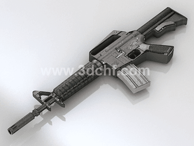free 3d model machine gun