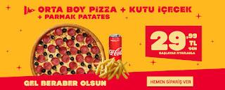 terra pizza orta boy pizza kampanyası indirim kuponu