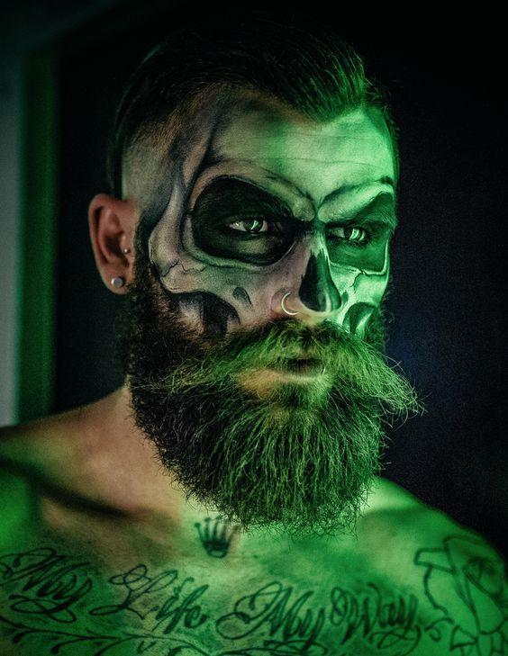 maquiagem de halloween masculina facil
