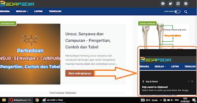cara screenshot pakai Tombol Logo Windows + Shift + S