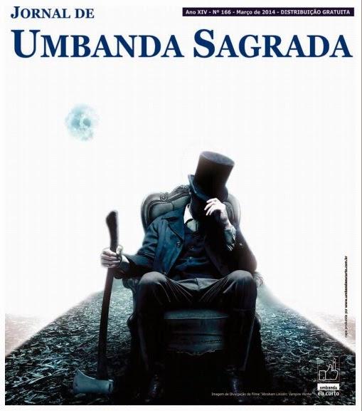 Tambores de Orunmilá: Capa Jornal de Umbanda Sagrada - Edição de Março 2014
