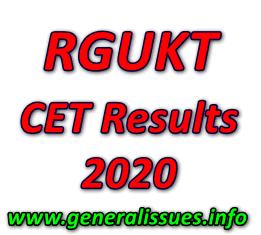 RGUKT CET Result 2020 (Released)