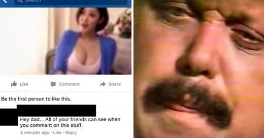 Padre comenta en página para adultos y su hija lo regaña