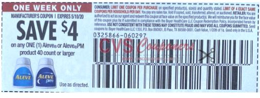 aleve $4.00 off coupon