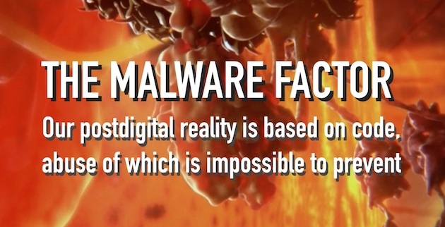 Image for The Malware Factor, background based on screenshot of a frame in BBC documentary Hidden Life of the Cell