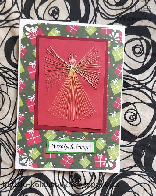 743. Kartka boonarodzeniowa z aniołkiem