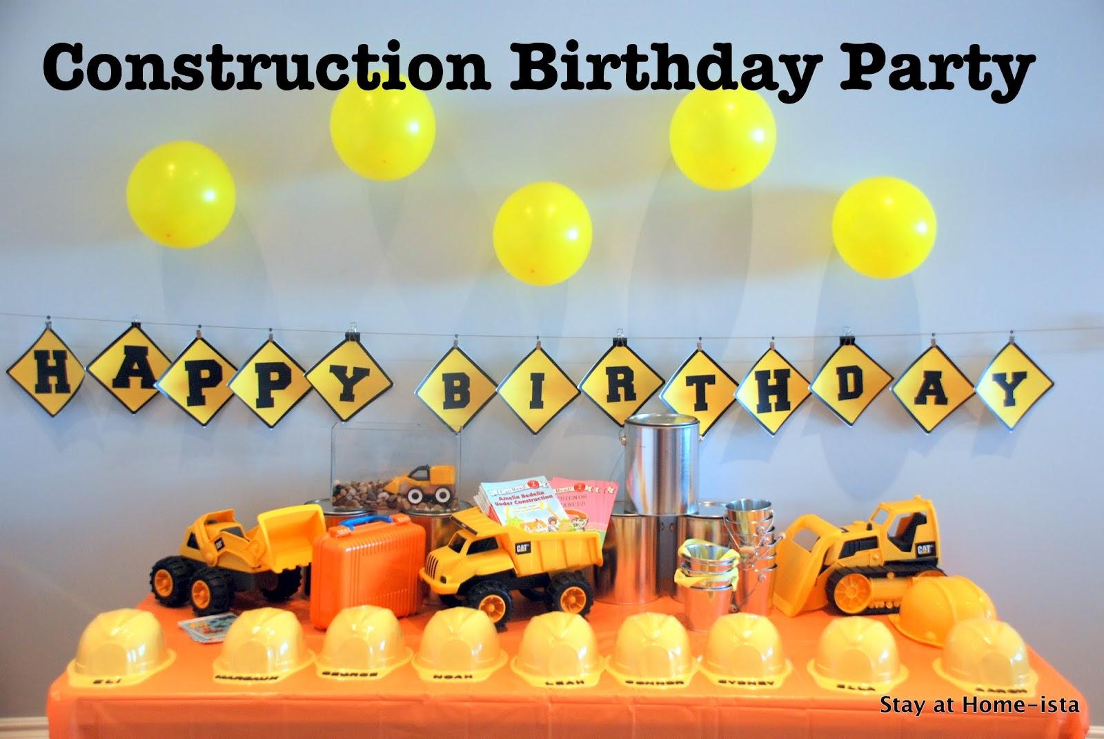 Construction Machine Birthday Party