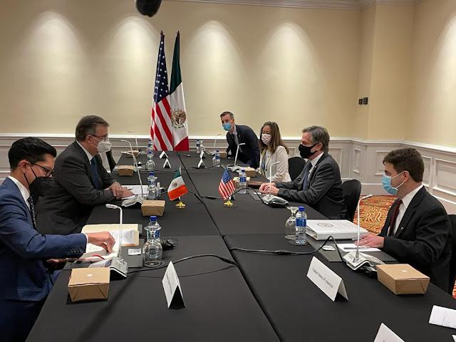 Secretarios Marcelo Ebrard y Antony Blinken celebran reunión bilateral en San José, Costa Rica