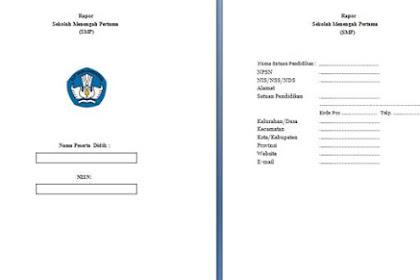 Format Rapor SMP Kurikulum 2013 Revisi 2017