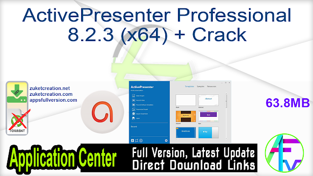 ActivePresenter Professional 8.2.3 (x64) + Crack