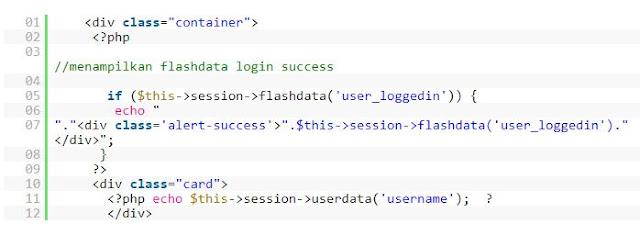 session codeignter