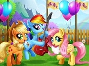 My Little Pony Farm Fest is a free online game for girls on GamesGirlGames.com. Come on down to the Ponyville Annual Farm Fest and have fun with Applejack, Rainbow Dash and Fluttershy! Get the girls look like real southern belles, pick colorful decorations for the festivities so you can have a ball. Treat the ponies with some delicious fair treats, watch them perform adn take some memorable pictures to show Princess Celestia.