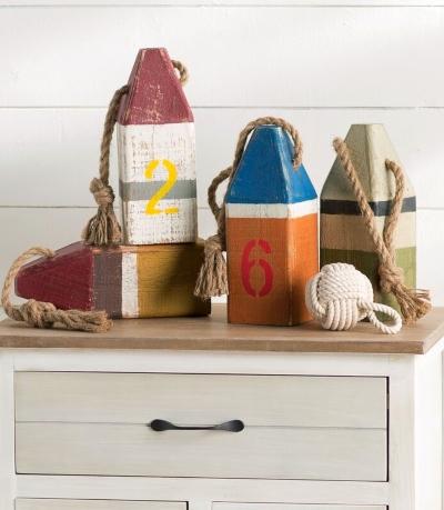 Decorative Wood Buoys