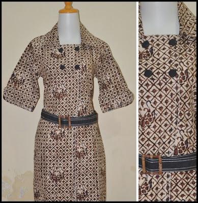 Model Baju Batik Wanita Kantor Elegan Masa Kini