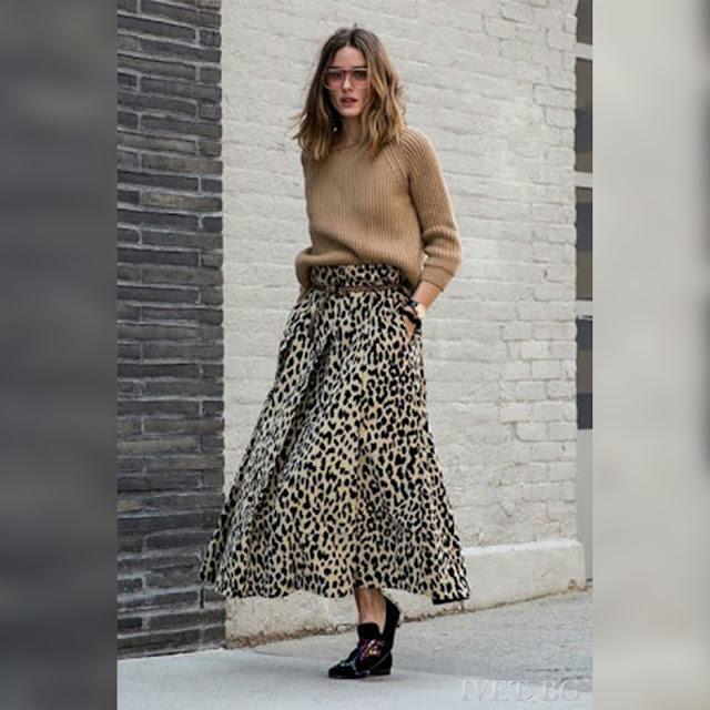 Ψηλόμεση μάξι λεοπάρ φούστα LEOPOLA