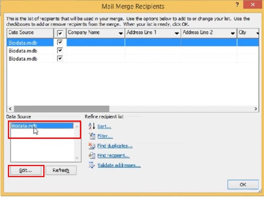 Cara Mailing Merge dengan menggunakan Microsoft Word
