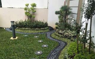 taman minimalis hasil tukang taman surabaya