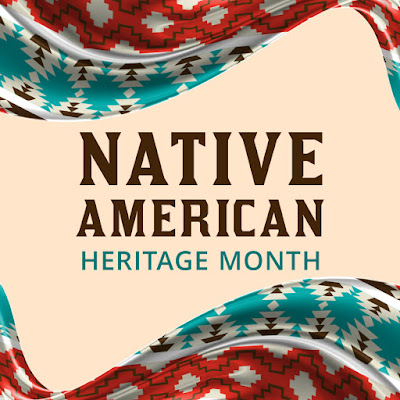 "Graphic reads, ""Native American Heritage Month"""