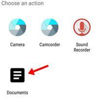 choose an action me documents par click kate