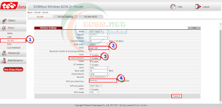 تغيير باسورد الشبكة في راوتر تي داتا huawei gh531 v1